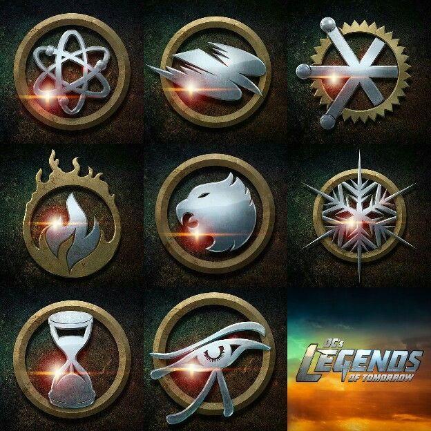 DC\'s Legends of Tomorrow logos.