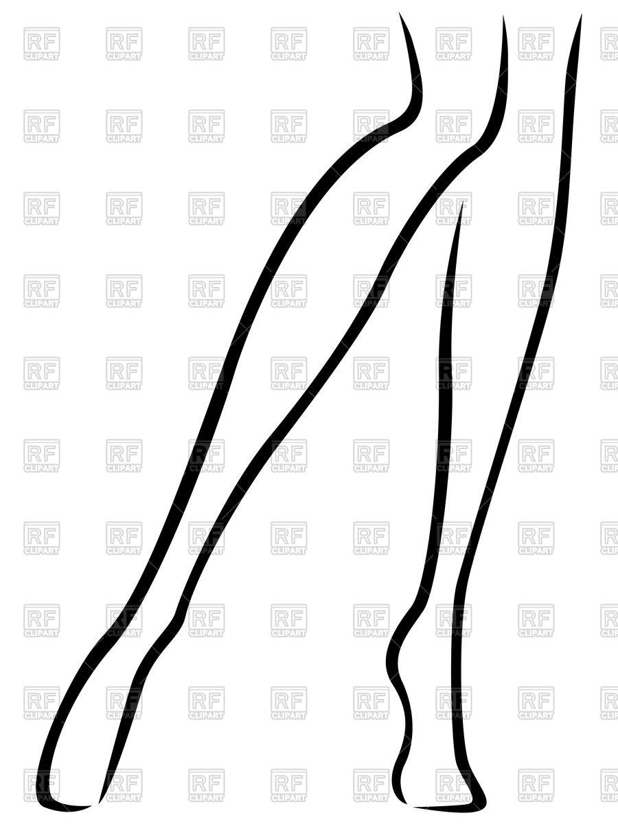 Ouline of woman legs.