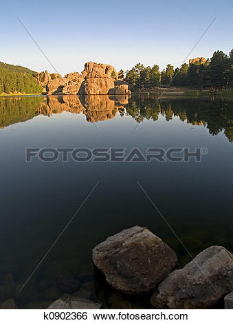 Stock Images of Sylvan Lake Daybreak k0902366.