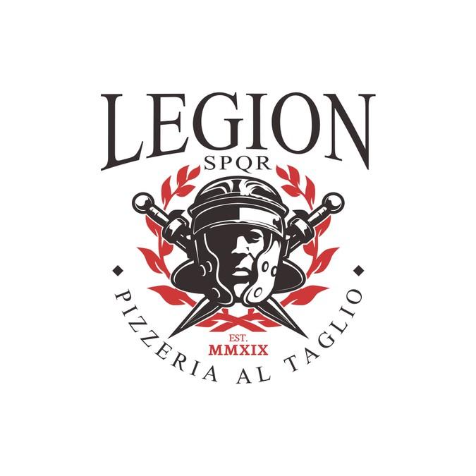 Legion Pizzeria Logo Design.