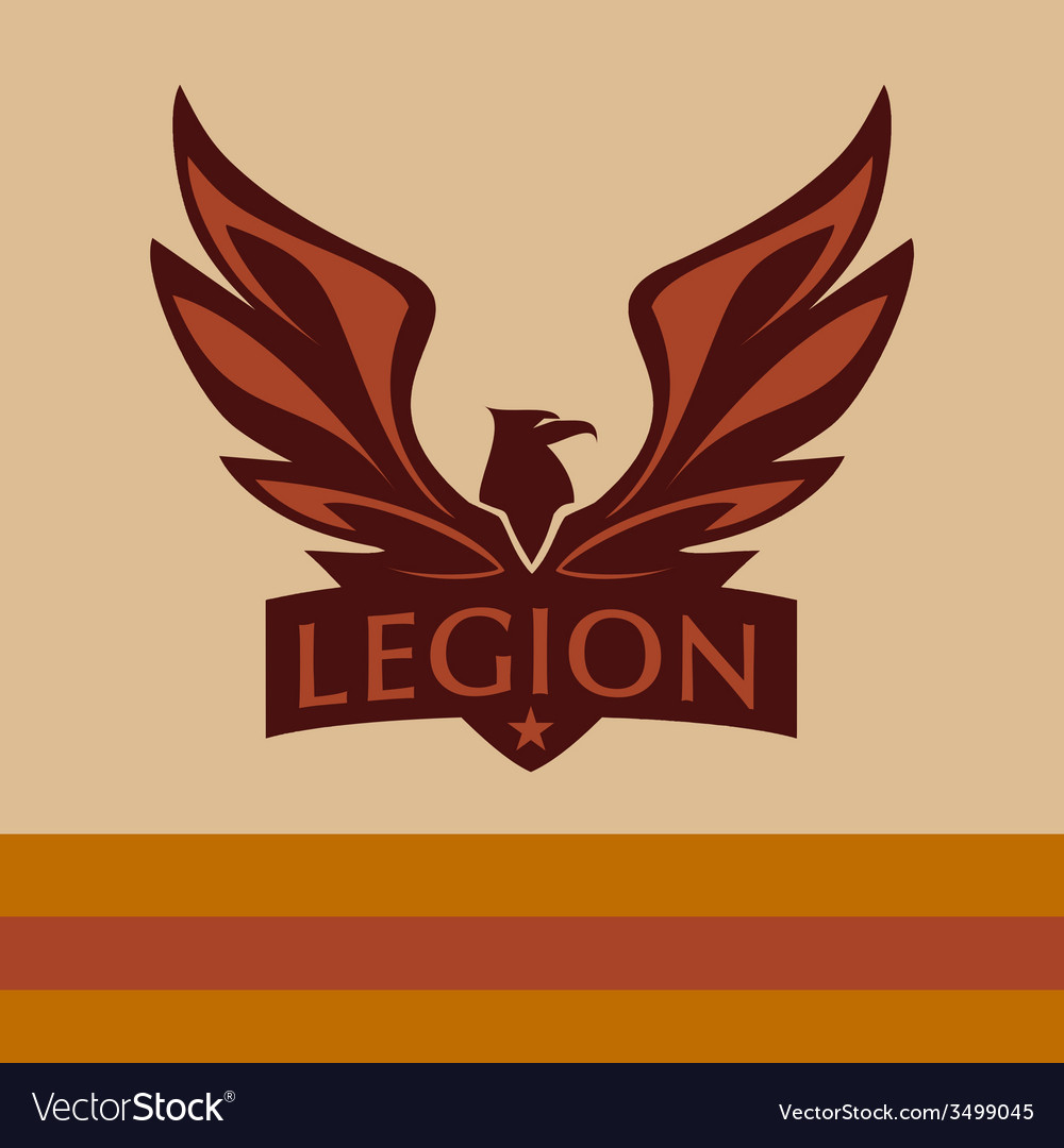 Logo with a picture of an eagle Legion.