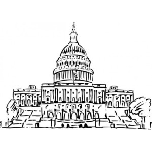 The capitol building clipart.