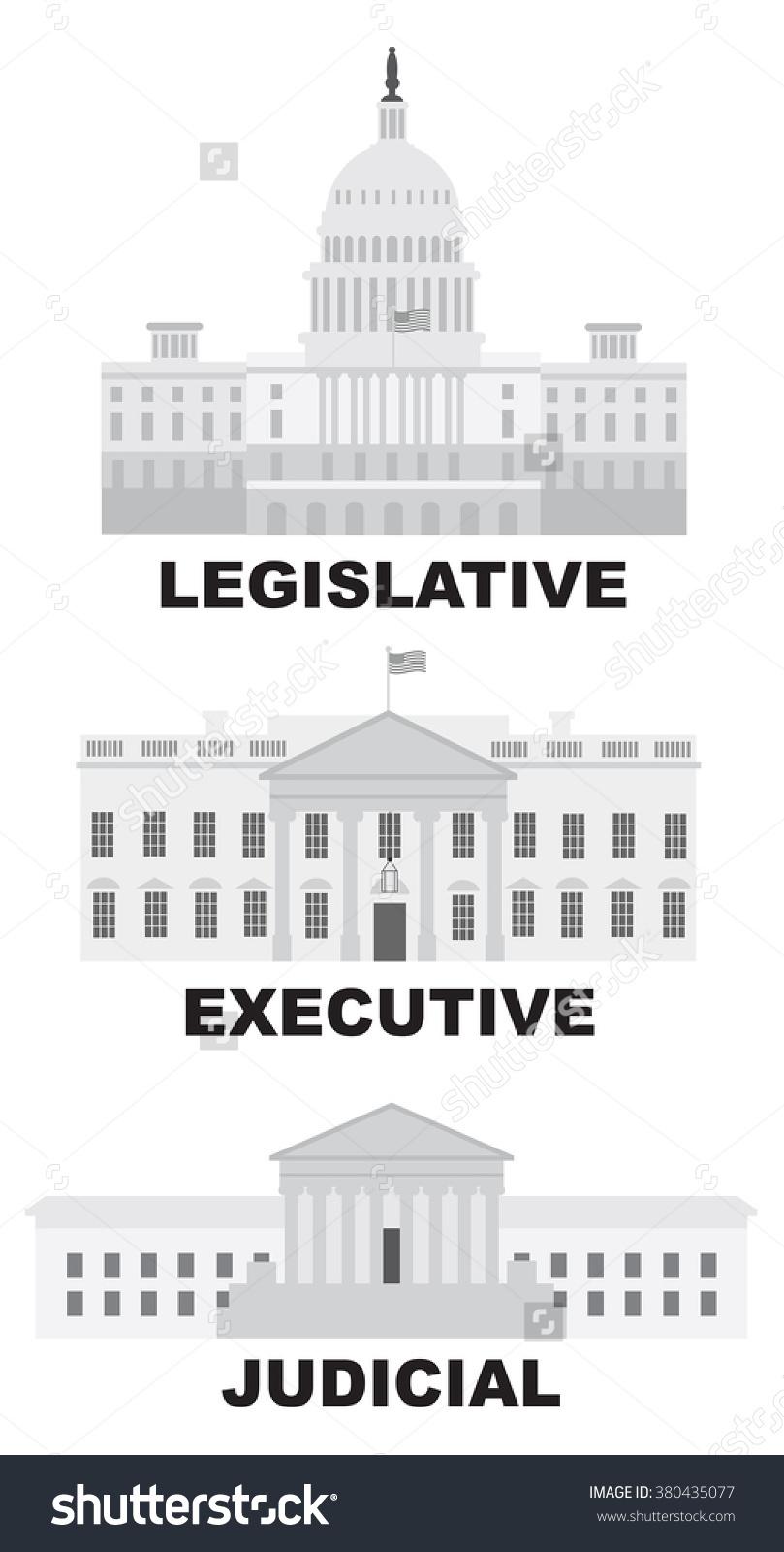 Three Branches United States Government Legislative Stock.