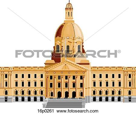 Clipart of Alberta Legislature 16p0261.