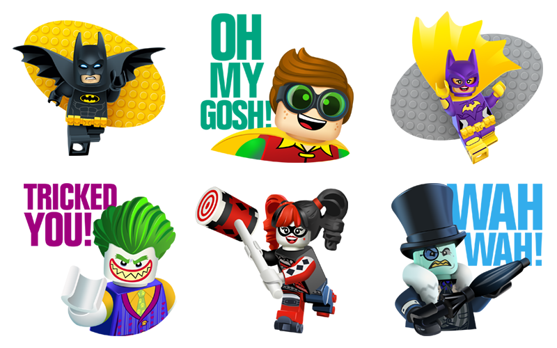 Official \'The LEGO® Batman Movie\' Sticker Pack • Iconfactory.