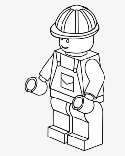 Free Lego Black And White Clip Art with No Background.
