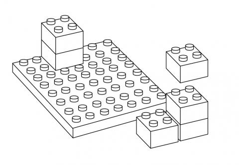 Lego Blocks Clip Art Black And White.