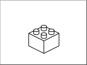 Lego clipart black and white, Lego black and white.