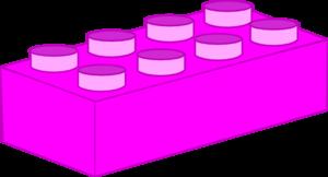 Hot Pink Lego Brick Clip Art at Clker.com.