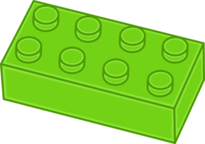 Green Lego Brick Clip Art.