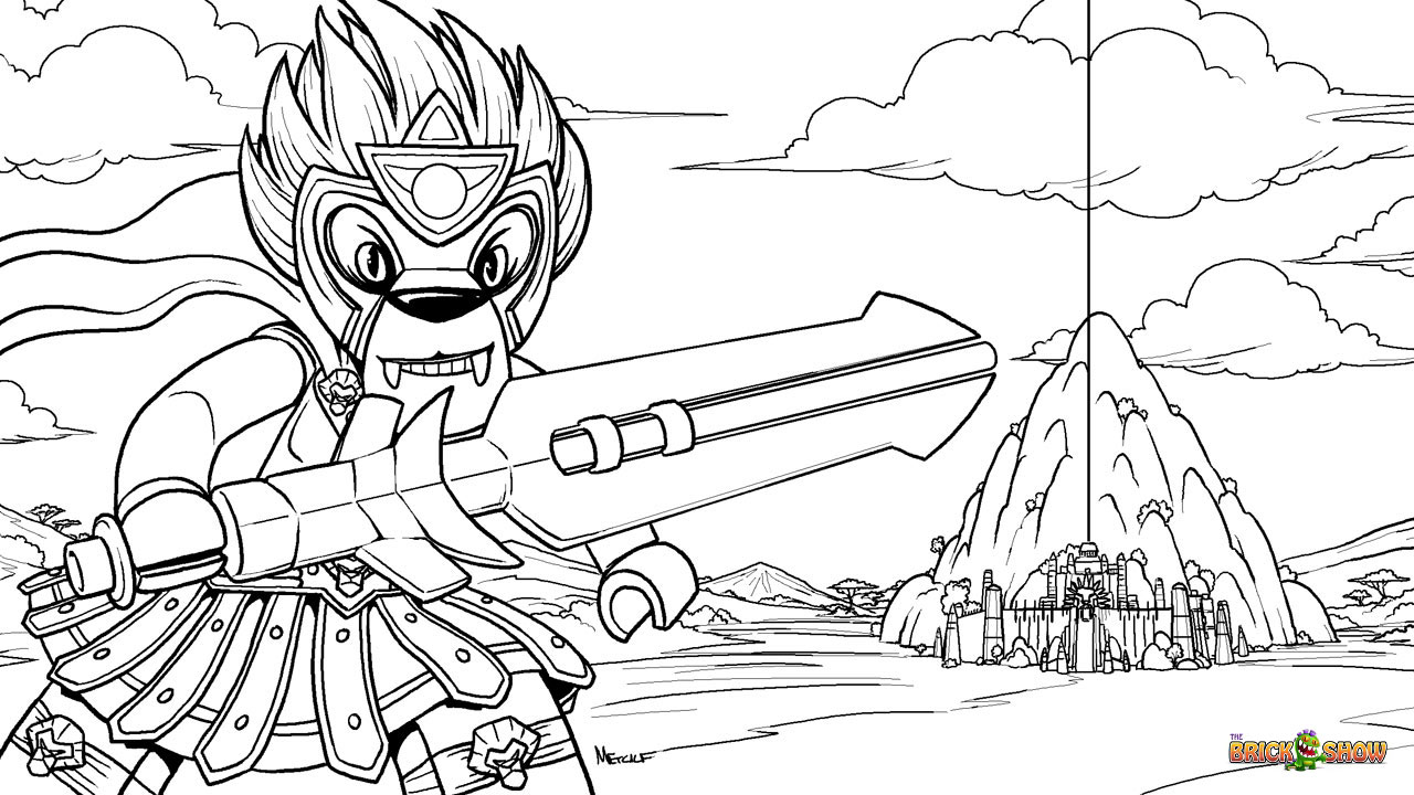Lego Chima Coloring Pages Cragger.