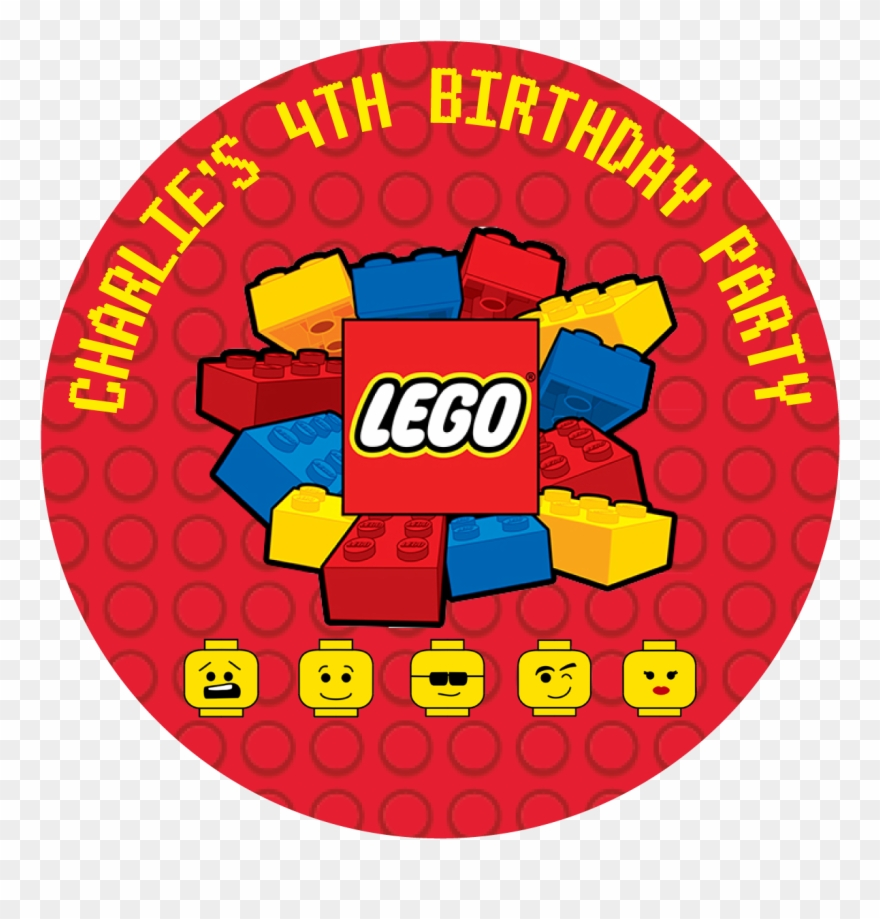 Lego Blocks Party Box Stickers.