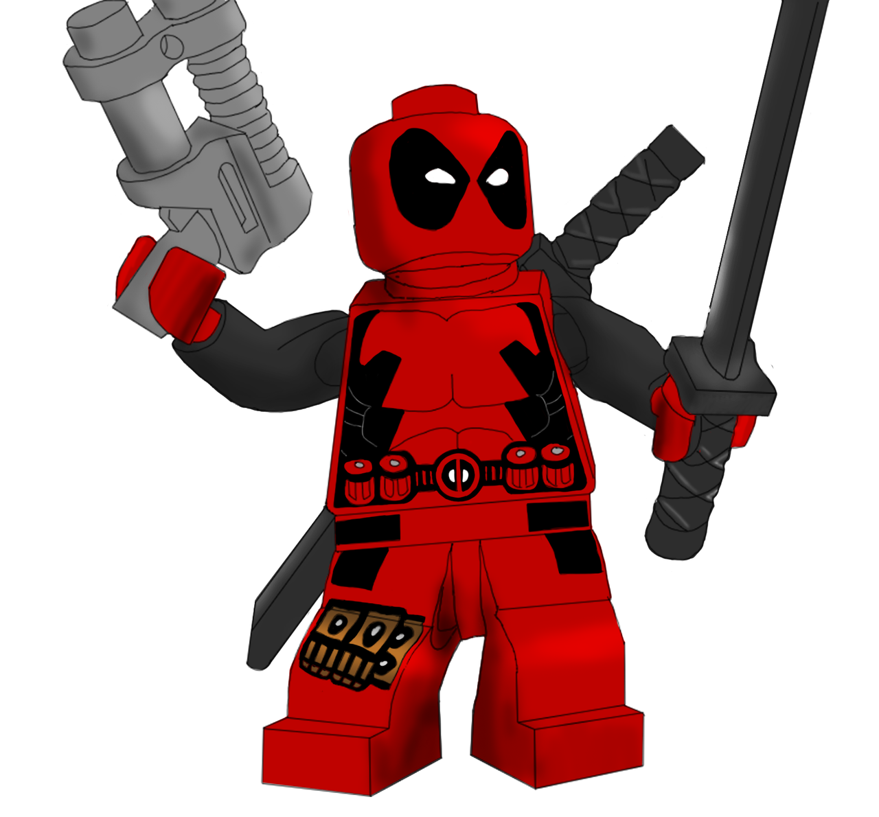 Lego Deadpool Clipart.