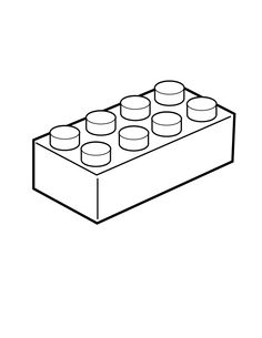Lego Bricks Clipart Black And White.