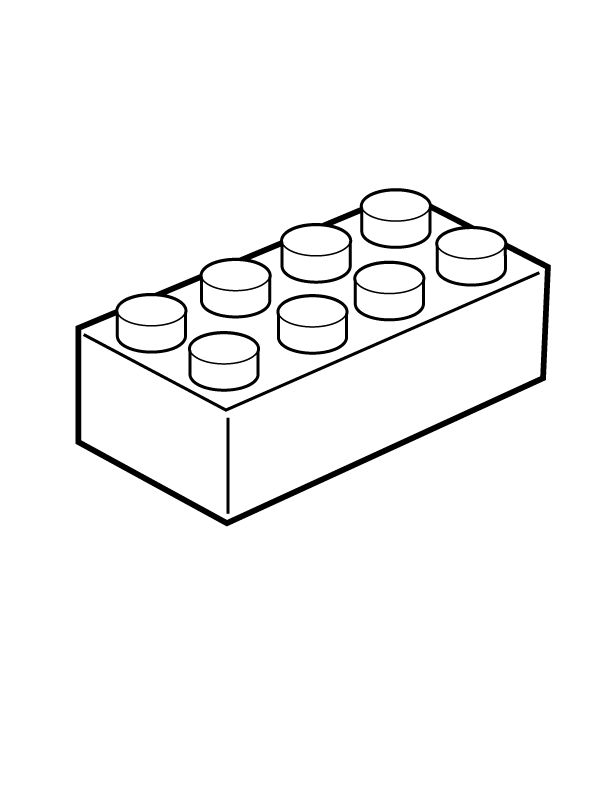 Lego Bricks Clipart Black And White