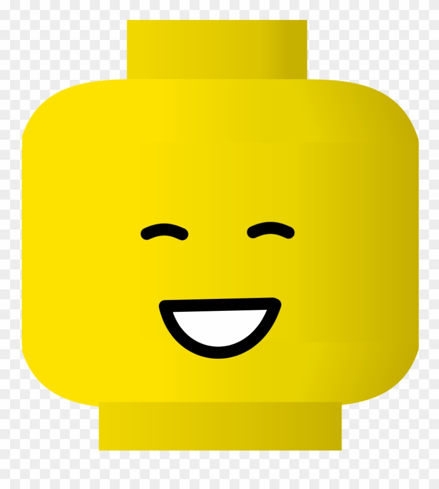Lego Smiley Laugh Svg Vector File, Vector Clip Art.