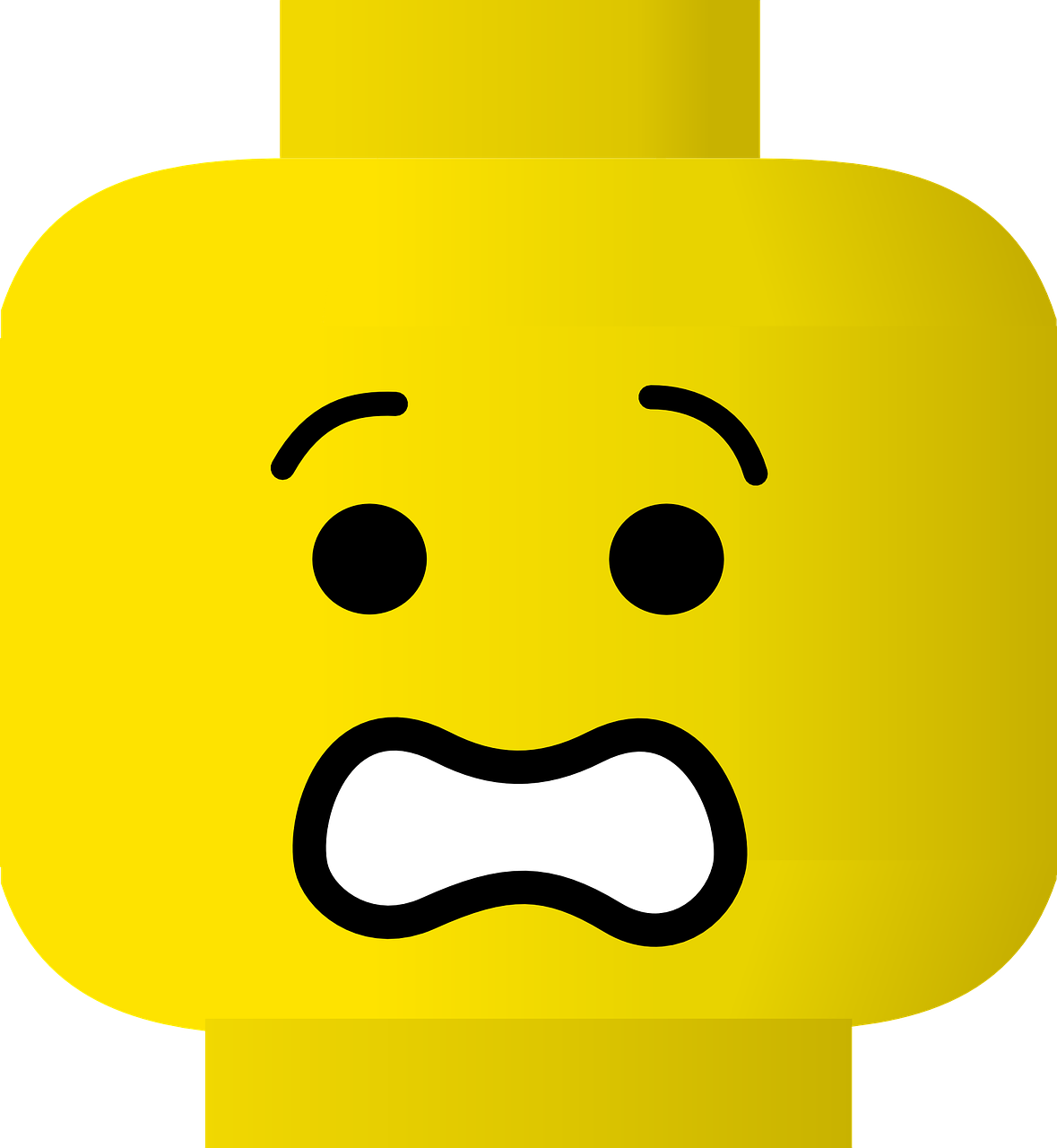 Lego Head People Figure Face PNG.