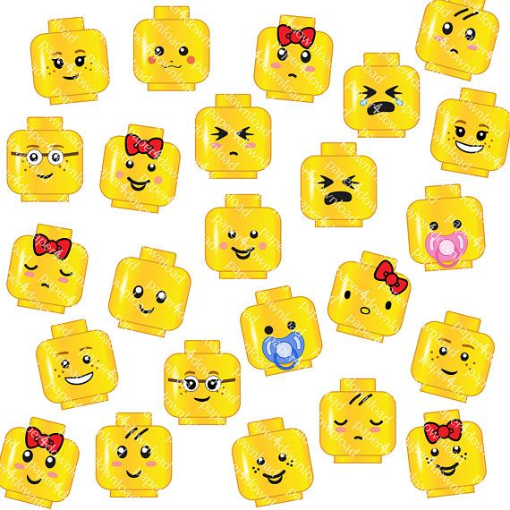 Lego faces clipart 6 » Clipart Station.