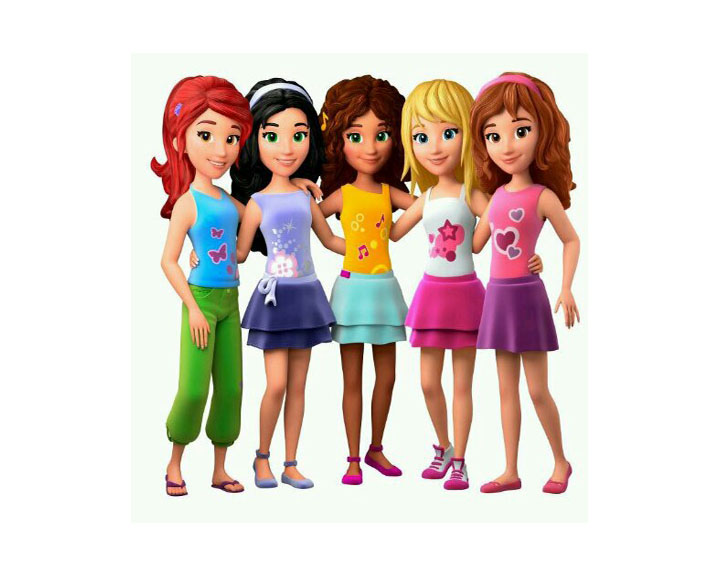 Lego Friends Clipart.