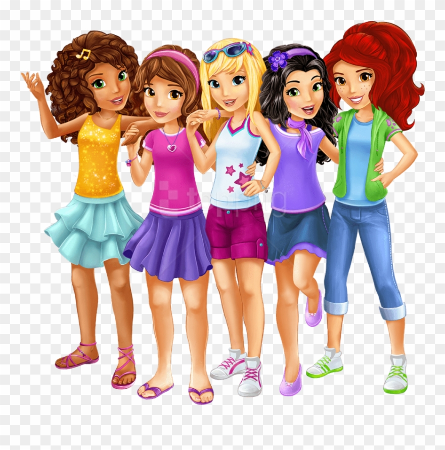 Free Png Download Lego Friends Main Characters Clipart.