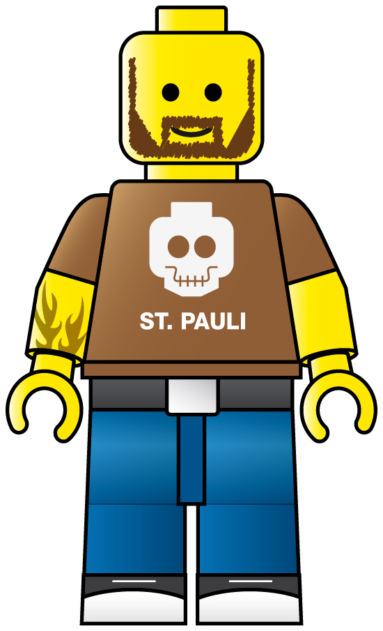 LEGO Man Clip Art free image.