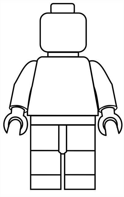 Lego Mini Fig Drawing Template.