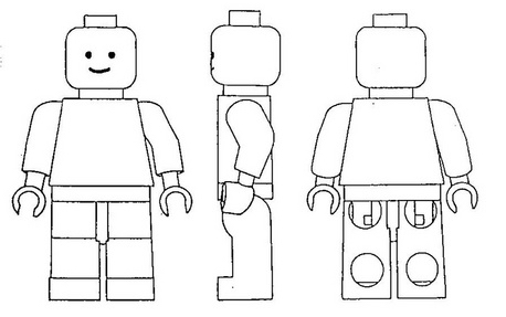 Lego Man Black And White Free Download Clip Art.