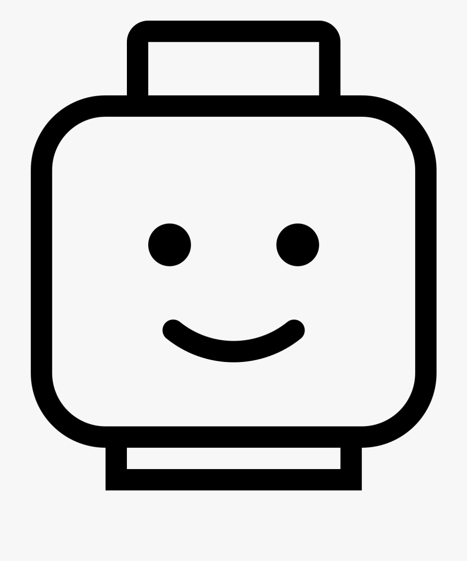 Lego Head Clipart Black And White.