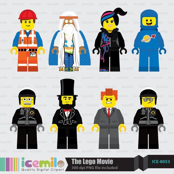 The Lego Movie Digital Clipart.