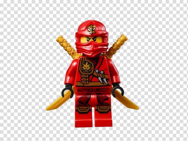 Red toy figure illustration, Kai Lloyd Garmadon Lego Ninjago.