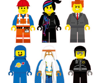 7 LEGO Birthday Cliparts.