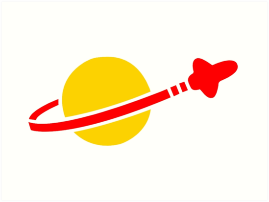 \'LEGO Space Man Logo\' Art Print by CaptainSpidey99.
