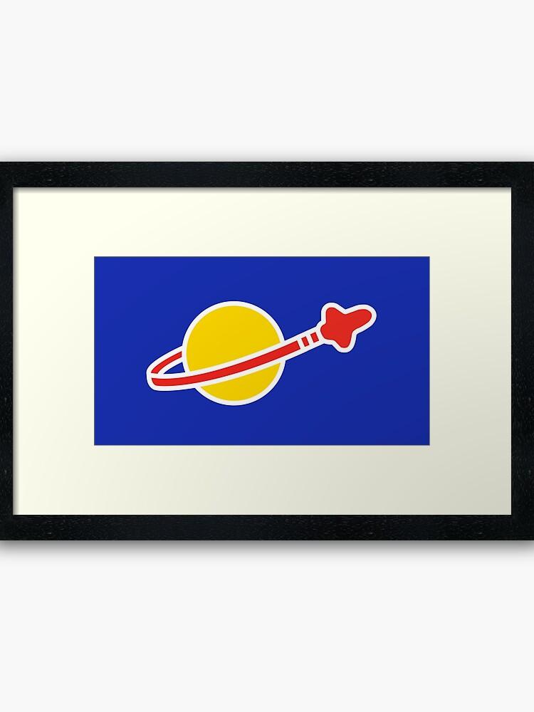 Classic Lego Space Logo.