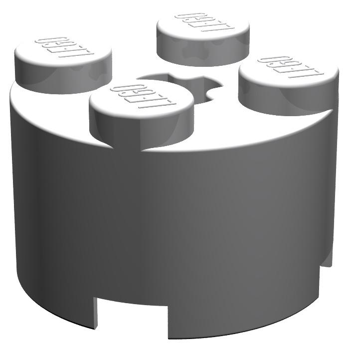 LEGO Medium Stone Gray Brick 2 x 2 Round (6143).