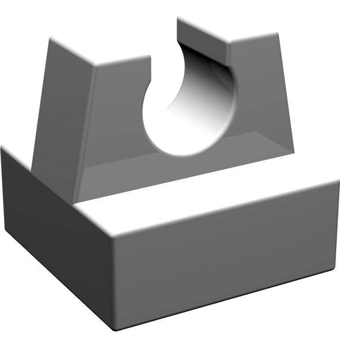 LEGO Medium Stone Gray Tile 1 x 1 with Clip (No Cut in Center.