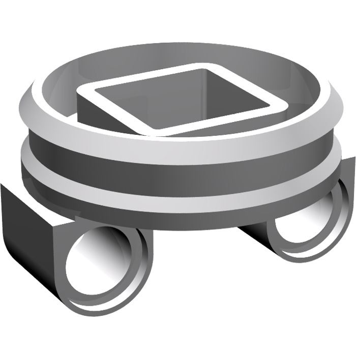 LEGO Medium Stone Gray Bottom for Small Turntable (99009).