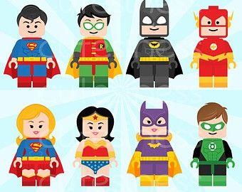 of lego superhero clipart.