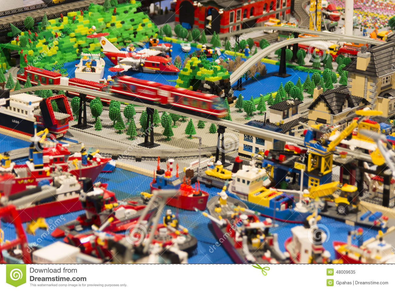 LEGO City Editorial Image.