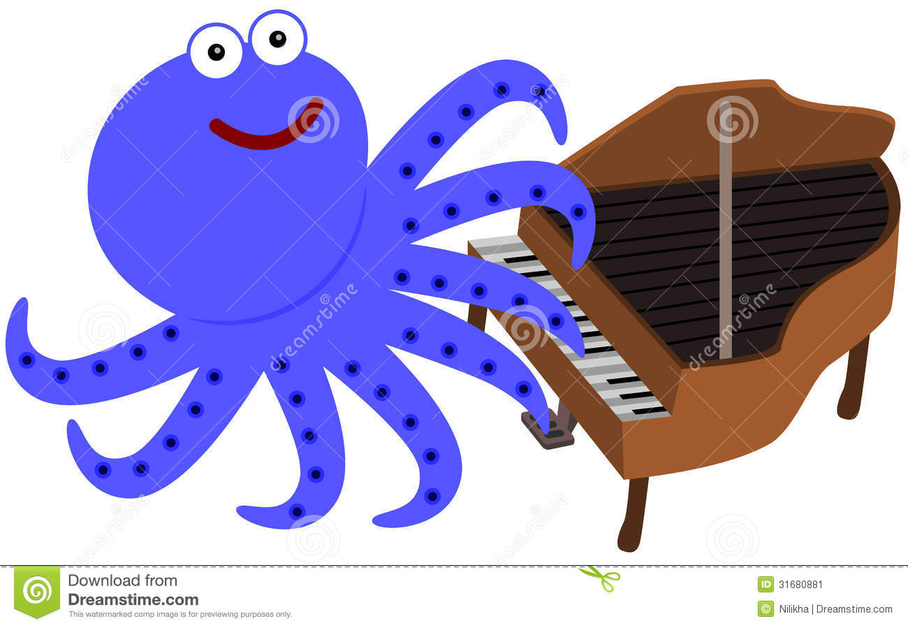 Eight Legs And A Piano Stock Image.