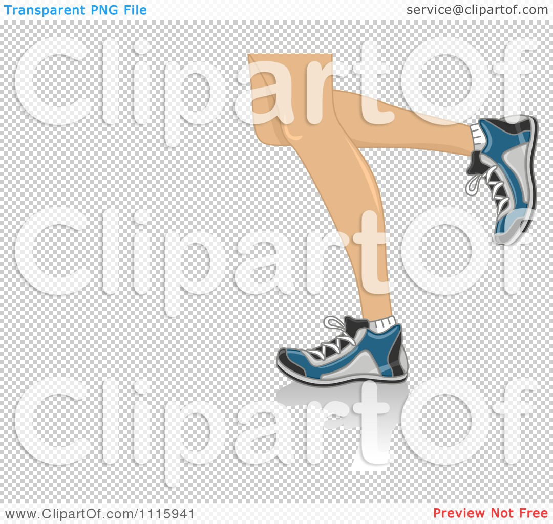 Clipart The Legs Of Running Woman.