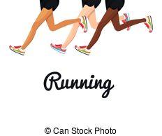 Clipart of Running Legs.
