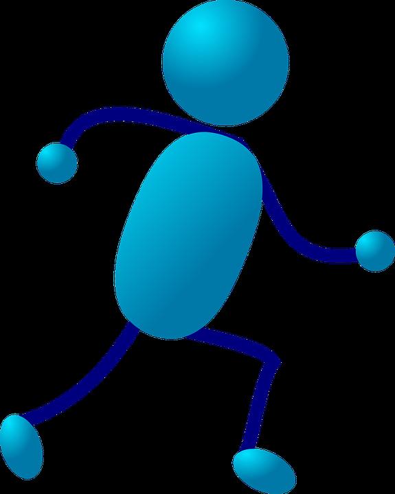 Free vector graphic: Stickman, Stick Figure, Run.
