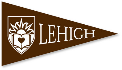 Lehigh Mini Logo Pennant Magnet from Collegiate Pacific.