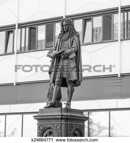 Stock Photography of Leibniz Denkmal Leipzig k24664771.