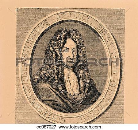 Picture of Gottfried Wilhelm Leibniz, german philosopher and.