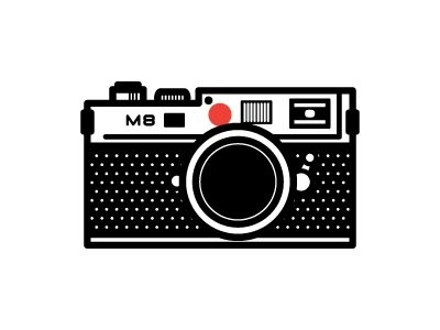 graphic illustration of a Leica camera.