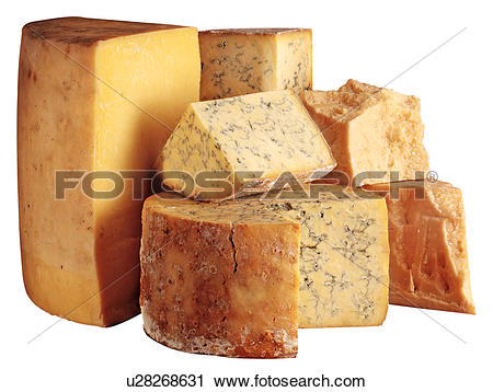 Stock Photography of Cheese Selection.
