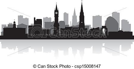 Leicester skyline Vector Clipart Illustrations. 15 Leicester.