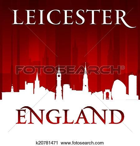 Clip Art of Leicester city skyline silhouette k15008147.