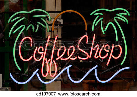 Picture of Coffee shop sign. Amsterdam. Holland cd197007.
